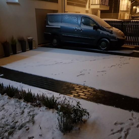 Ogrzewanie wjazdu do garazu Warszawa efekty dzialania