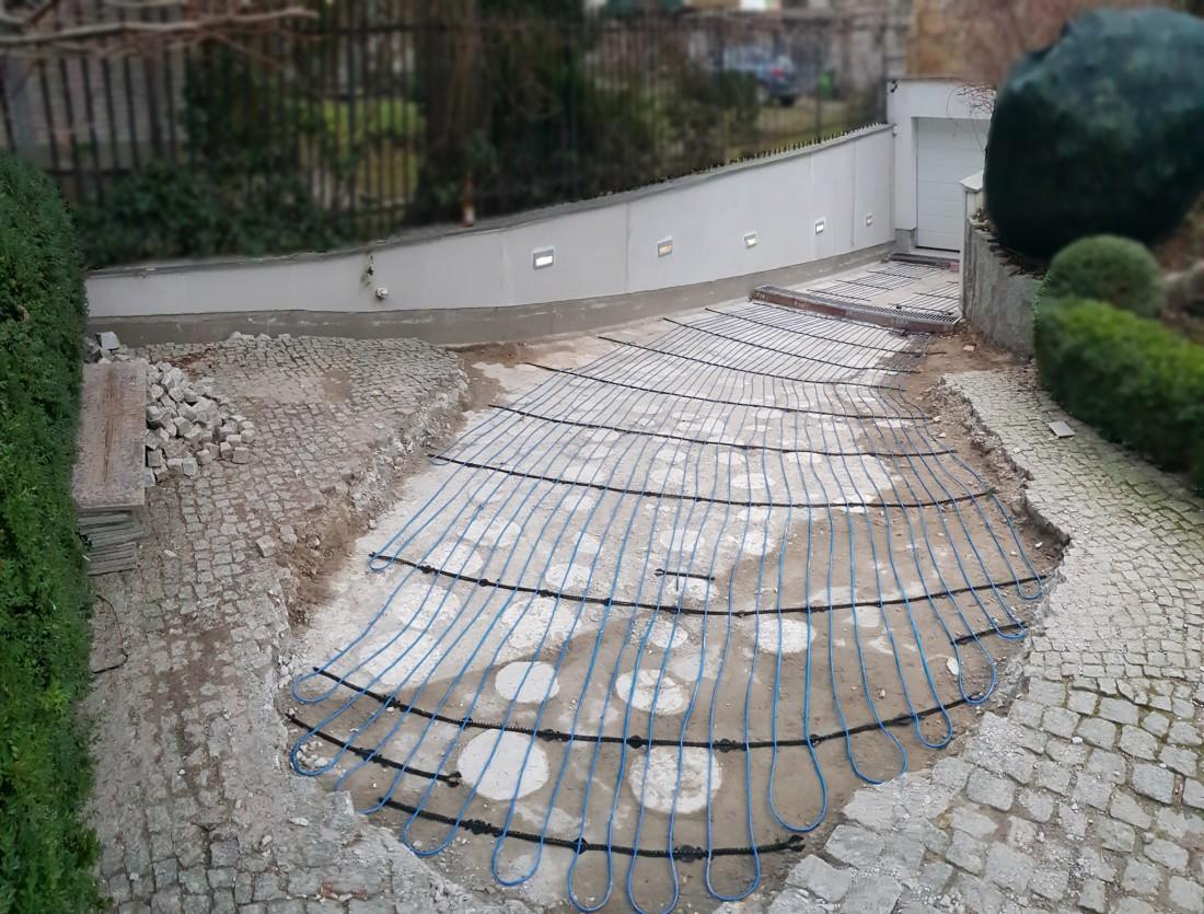 Ogrzewanie zjazdu do garażu Żoliborz